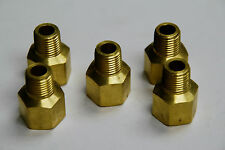 "Brass Fittings: Brass Reducing Adapter, Female Pipe 3/8"", Male Pipe 1/4"", QTY 5"