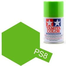 TAMIYA PS-8 LIGHT GREEN R/C Car Spray Lexan Polycarbonate Hobby Paint 3oz.