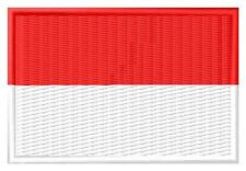 Flag Indonesia Bandera de Indonesia Parche bordado Thermo-Adhesivo patch