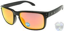 Oakley Holbrook Sunglasses OO9102-51 Matte Black | Ruby Iridium Polarized | NIB