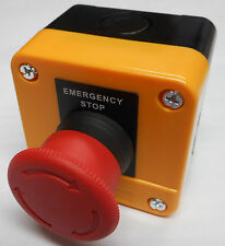 EMERGENCY STOP STATION TWIST RELEASE BUTTON DANGER YELLOW XAL-J174