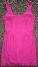 LILLY Pulitzer 8 HOT Pink LACE Overlay SHEATH Dress SPRING Gorgeous EEUC!!