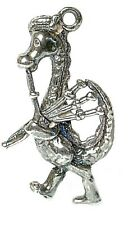 VINTAGE SILVER SCOTTISH NESSIE & BAGPIPE CHARM