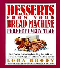 DESSERTS FROM YOUR BREAD MACHINE PERFECT EVERY TIME by Lora Brody HB Spiral