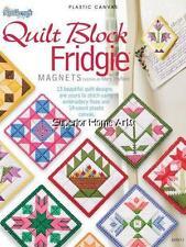 quilt block fridgie magnet plastic canvas patterns BOOK