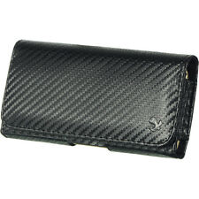 Belt Clip Carbon Fiber Pouch Holster for Samsung Galaxy S3 S4 S5 Nokia Lumia 521