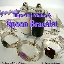 "DVD-""How To Make A SPOON BRACELET"" With Bender,Spoons & Gemstone Beads,Wire"