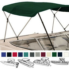 "BIMINI TOP BOAT PONTOON GREEN 4 BOW 96""L 54""H 85""- 90""W - W/ BOOT & REAR POLES"