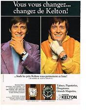 PUBLICITE  1969   KELTON  montres homme