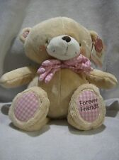 Forever Friends plush 12inch teddy Pink bow
