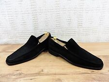 Versace Top of Range Men's Black Suede Penny Loafers - UK 11.5  US 12.5  EU 45.5