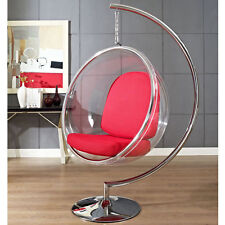 Eero Aarnio Standing hanging Bubble Chair With red PU Cushion #3024