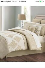 NIP Martha Stewart Versailles Tile Queen Comforter Set 6pc