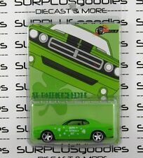 GREENLIGHT 1:64 Milezone Exclusive St. Patrick's Day Green 2006 DODGE CHALLENGER
