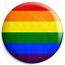 Rainbow Flag - 25mm Button Pin Badge - Lesbian and Gay Pride LGBT