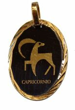 Capricorn Zodiac Medal - Capricornio Pendant 18k Gold Plated Medal with Chain