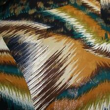 POLY LYCRA 4W STRETCH GORGEOUS PRINT w/GOLD FOIL DESIGN NEW