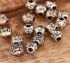100x Tibet Silber Metallperlen Spacer 6x6,5mm ms494