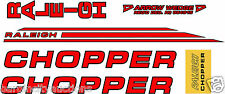 RALEIGH CHOPPER MK2 DECAL SET GLOSS RED