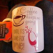 10 Strawberry Street ~ 26 oz. GIANT BARREL COFFEE/WINE MUG/WINE CADDY