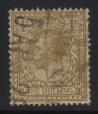 [JSC]1912-1924 King George V Postage & Revenue One Shilling Brown