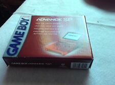 Rare Vintage Nintendo Game Boy Advance, GBA SP Flame Red AGS 001 - Brand New NOS