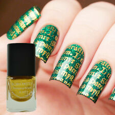 1Bottle 6ml Born Pretty Nail Art Gold Manicure Stamp Stamping Varnish Polish DIY