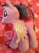 My little pony Plush Purse Sparkle 2014 Hasbro Toy Handbag Purple Glitter Wing