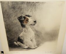 "KURT MEYER EBERHARDT ""FOX TERRIERS "" DOG COPPER ETCHING"