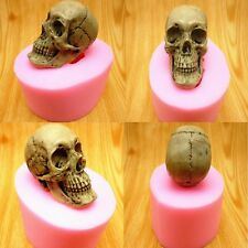 3D skull fondant cake chocolate soap candle silicone mold