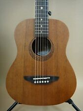 """Traveler"" 3/4 Size Parlor Guitar Mahogany Factory 2nd + Gig Bag Tuner Strings"