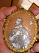 Saint Roch Saint Rochus Sint Rochus relic vintage santa rocco antique