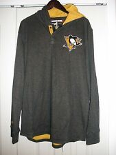 Mitchell & Ness Pittsburgh Penguins Hooded Long Sleeve, size XL, NWT'S