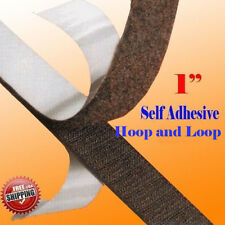 "1"" x 5 Yard 15 FT Self Adhesive Hook and Loop Sticky Tape 25mm Fabric Fastener"