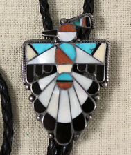 Important Zuni Mary Kallestewa Thunderbird Hopi Bird Rain Cloud SunFace Bolo 40s