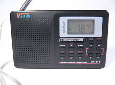 Vite VT-111 FM Stereo SW MW LW Digital Scanning Radio VHF AM Medium Short Wave