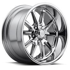 "4-NEW US Mags U110 Rambler 18x8 5x4.75"" +1mm Chrome Wheels Rims"