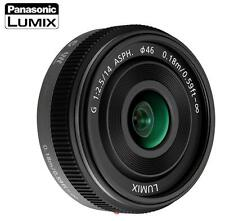 PANASONIC LUMIX G 14mm F2.5 F/2.5 ASPH AF LENS H-H014 MICRO Black NEW