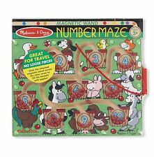 NUMBER MAZE MAGNETIC GAME # 2280 ~ Wooden~ Melissa & and Doug