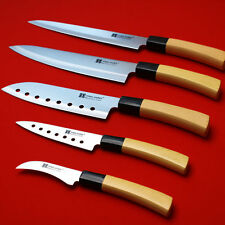 5Pcs Knife Set Sashimi Stainless Steel Sushi Chef Kitchen Cutlery Cook YingGun