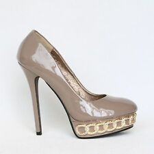 Sexy Damen Plateau High Heels Stilettos Pumps Lack 36 Braun Shoes 9446-P