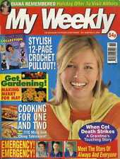 MY WEEKLY MAGAZINE 6/5/2000 PRINCESS DIANA REMEMBERED, 12 PAGE CROCHET PULL OUT
