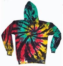 LG RASTA TIE DYE ADULT HOODIE REGGAE SPIDER WEB sweatshirt tye  men women hippie