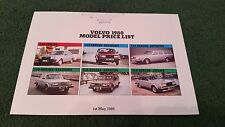 MAY 1980 VOLVO UK PRICE LIST BROCHURE 340 345 240 260 SALOON ESTATE 262C COUPE