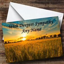 Sunset Personalised Sympathy / Sorry For Your Loss Greetings Card