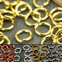 4mm 5mm 6mm 3.5x5mm 4x6mm Round Oval Ellipse Brass Open Jump Ring Finding