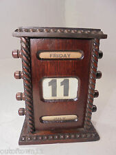 Antique Desktop Oak Perpetual Calendar   ref 917