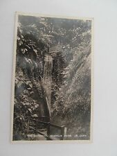1936 Real Photograph postcard, The Waterfall, Shanklin Chine, I. W., D.624, B&W