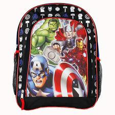 """AVENGERS IRON MAN AMERICA THOR HULK 16"""" Backpack BookBag School NWT"""