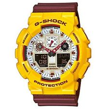RARE ! NEUF ORIGINAL : Montre CASIO G-SHOCK Jaune Bordeaux GA-100CS-9AER